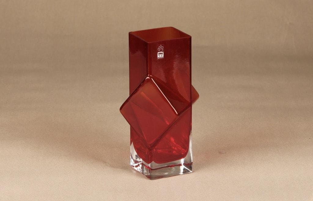 Riihimäen lasi Pablo maljakko, rubiininpunainen