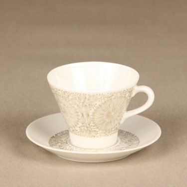 Arabia Filigran coffee cup, gold, Raija Uosikkinen