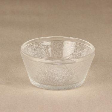 Nuutajärvi Saana dessert bowl, clear, Oiva Toikka