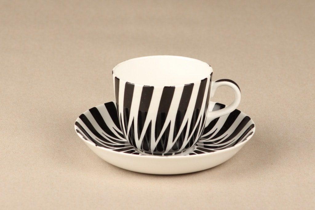 Arabia Toini coffee cup B/W designer Toini Muona
