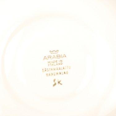 Arabia Toini kahvikuppi, mustavalkoinen, suunnittelija Toini Muona, käsinmaalattu kuva 3