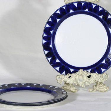 Arabia Sotka lautaset, matala, 3 kpl, suunnittelija Raija Uosikkinen, matala, käsinmaalattu