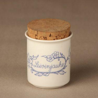 Arabia Sininen keittiö maustepurkki, leivinjauhe, suunnittelija Raija Uosikkinen, leivinjauhe