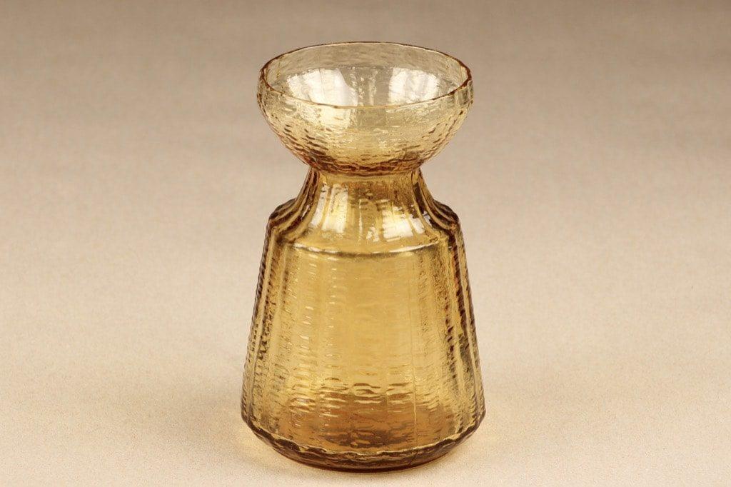 Riihimäen lasi Hyasintti maljakko, amber, suunnittelija Tamara Aladin,