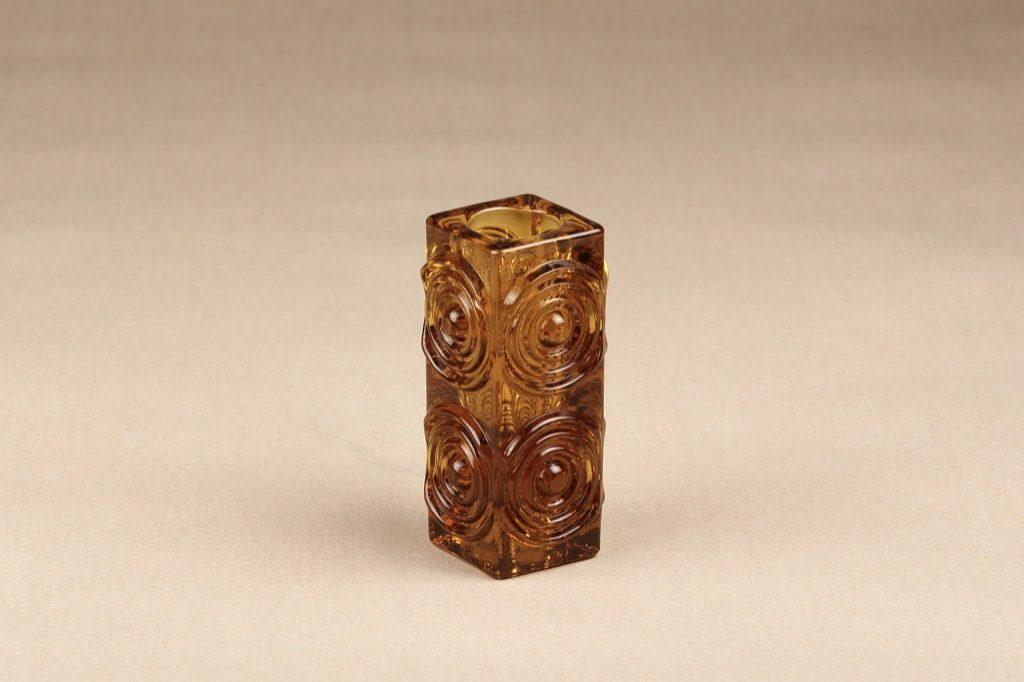 Riihimäen lasi Rengas vase, brown, designer Tamara Aladin,