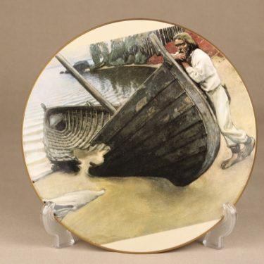 Arabia jubileum plate Barque appeal 1985 designer Akseli Gallen-Kallela