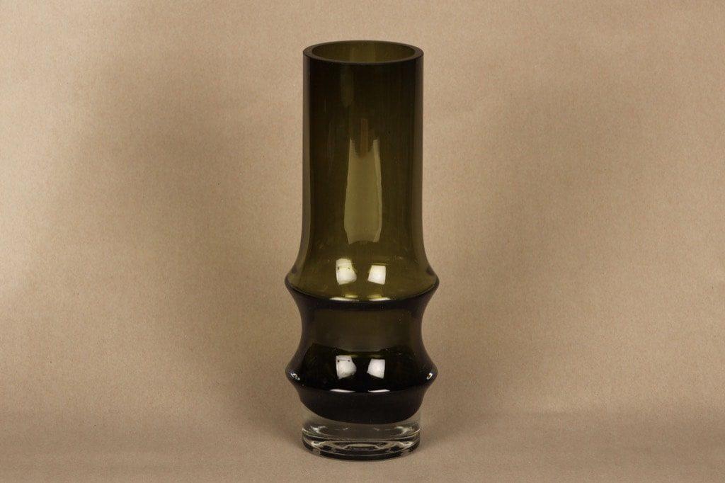 Riihimäen lasi Reimari maljakko, vihreä, suunnittelija Tamara Aladin,
