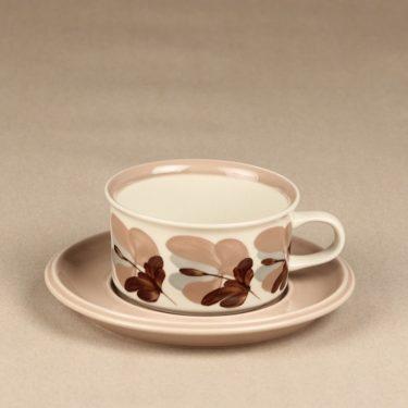 Arabia Koralli teekuppi, käsinmaalattu, suunnittelija Raija Uosikkinen, käsinmaalattu