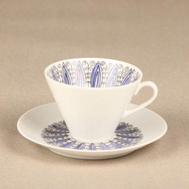 Arabia Senja kahvikuppi, suunnittelija Esteri Tomula, käsinmaalattu