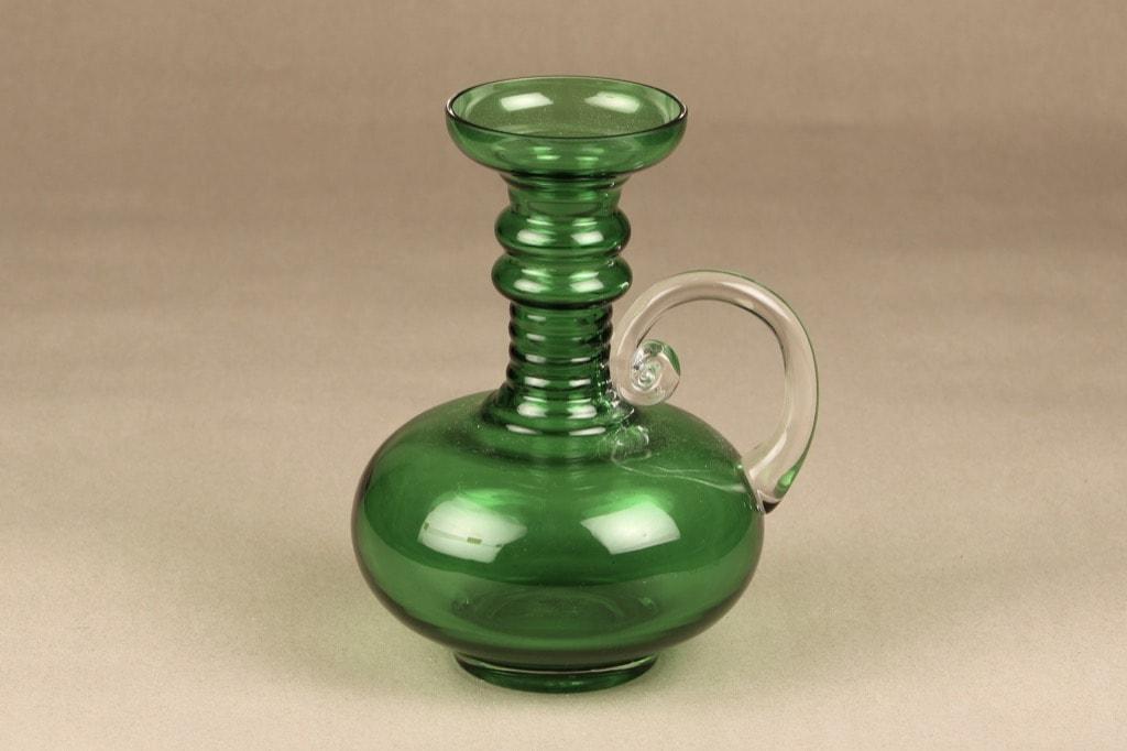 Riihimäen lasi Kleopatra maljakko, vihreä, suunnittelija Tamara Aladin,