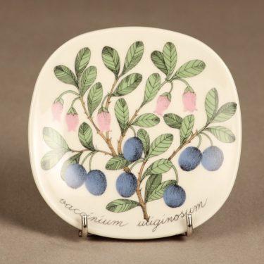 Arabia Botanica koristelautanen, Juolukka, suunnittelija Esteri Tomula, Juolukka, serikuva, marja-aihe