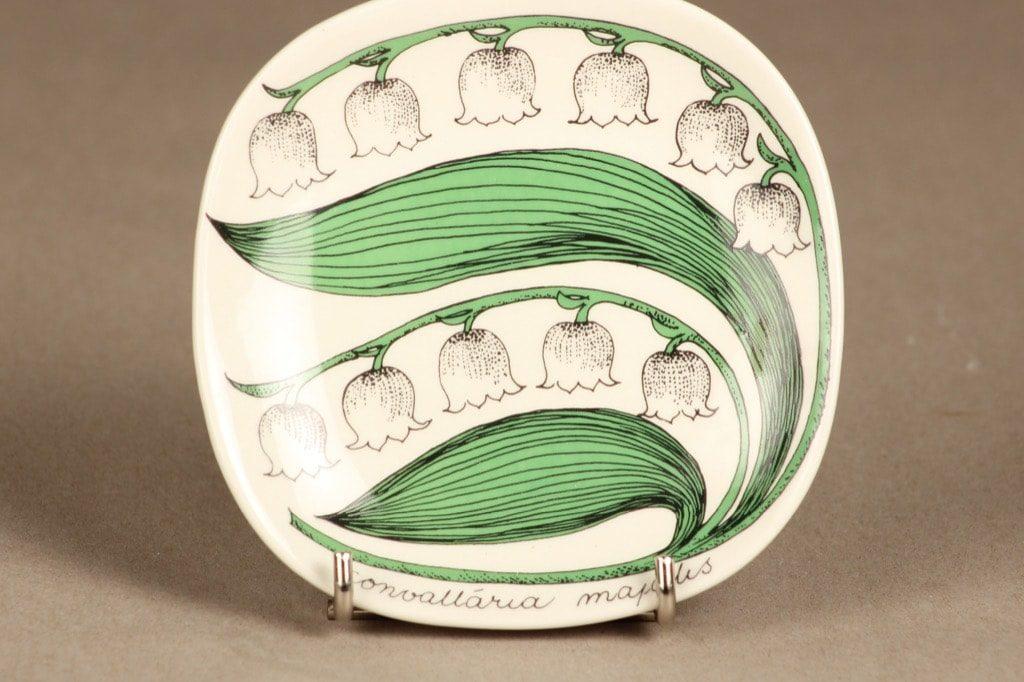 Arabia Botanica koristelautanen, Kielo, suunnittelija Esteri Tomula, Kielo, serikuva, kukka-aihe