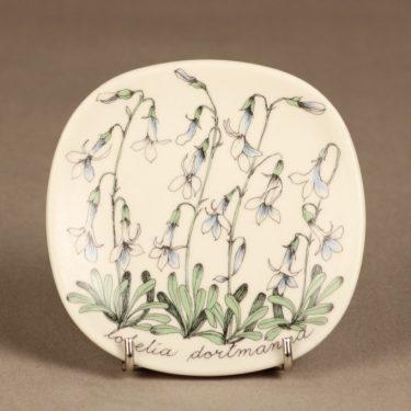Arabia Botanica koristelautanen, Nuottaruoho, suunnittelija Esteri Tomula, Nuottaruoho, serikuva, kukka-aihe