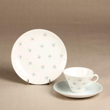 Arabia Monica kahvikuppi, käsinmaalattu, suunnittelija Esteri Tomula, käsinmaalattu, kukkakuvio