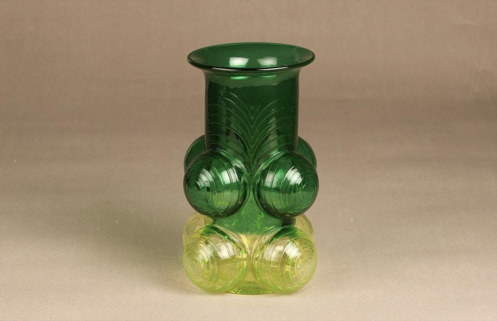 Riihimäen lasi Pajazzo maljakko, ¼, suunnittelija Nanny Still, ¼, signeerattu, retro
