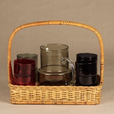 Nuutajärvi mehuastiasto mug and glasses, 100 cl / 25 cl, 8 pcs, Saara Hopea