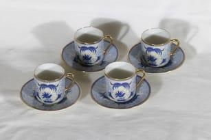 Arabia She-foo mocka cup, 4 pcs, copper ornament
