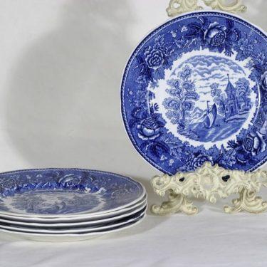 Arabia Maisema lautaset, 6 kpl, suunnittelija , kuparipainokoriste
