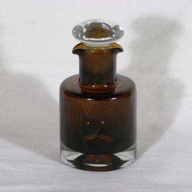 Riihimäen lasi karahvi, ruskea, suunnittelija Nanny Still,