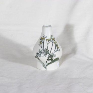Arabia Kukka maljakko, käsinmaalattu, suunnittelija Hilkka-Liisa Ahola, käsinmaalattu, pieni, signeerattu