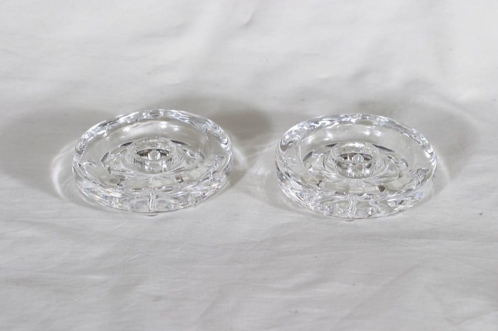 Riihimäen lasi Lumitähti kynttilänjalat, kirkas, 2 kpl, suunnittelija Nanny Still,