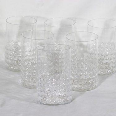 Riihimäen lasi Grappo grogilasit 30 cl, kirkas, 6 kpl, suunnittelija Nanny Still,