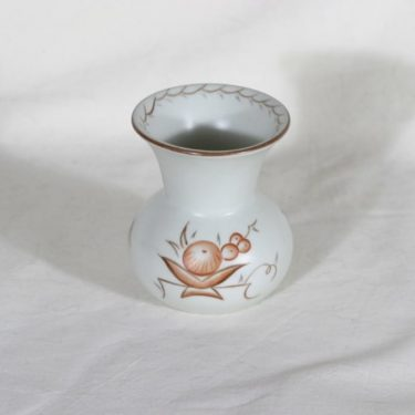 Arabia Pomona maljakko, käsinmaalattu, suunnittelija Raija Uosikkinen, käsinmaalattu, pieni, art deco, signeerattu