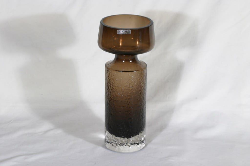 Riihimäen lasi Safari maljakko, ruskea, suunnittelija Tamara Aladin,
