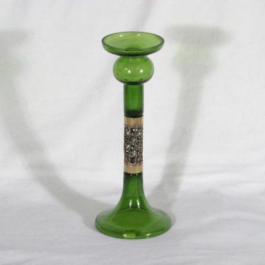Turun hopea|Kumela P 409 kynttilänjalka, vihreä, suunnittelija Pentti Sarpaneva, pronssivanne