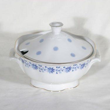 Arabia Fenno liemimalja, sininen, suunnittelija , serikuva, ornamentti
