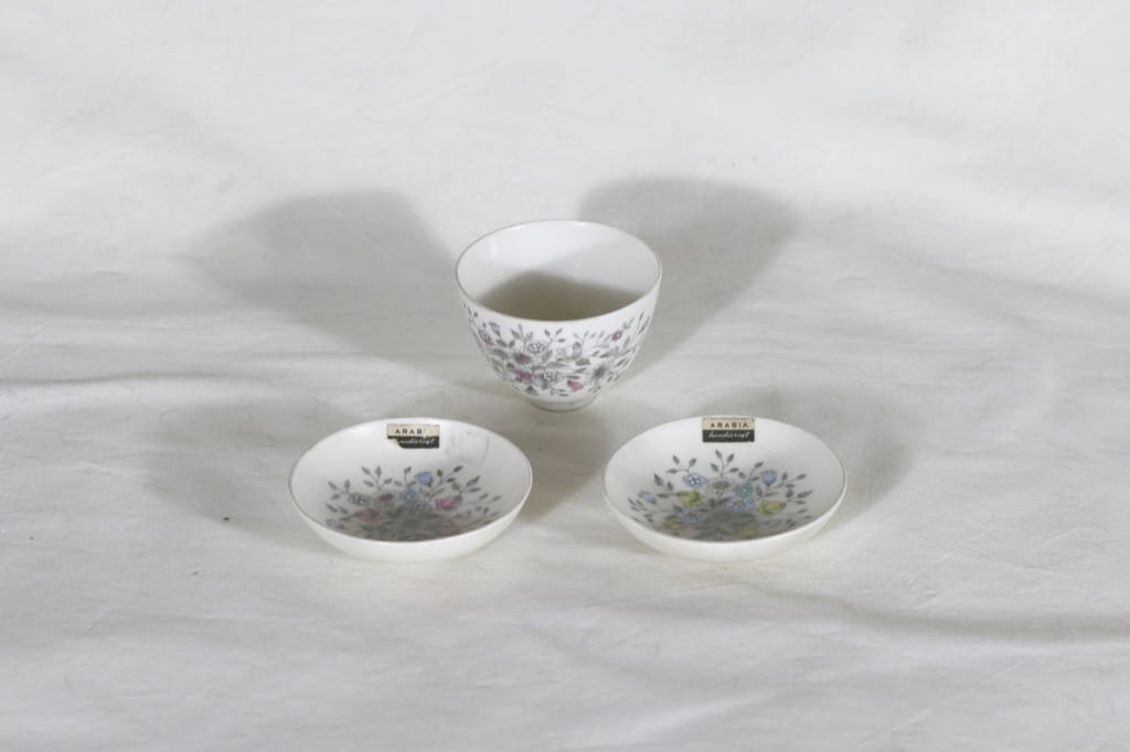 Arabia Fennica platters, printed and hand-painted, 3 pcs, designer Esteri Tomula, small, signed