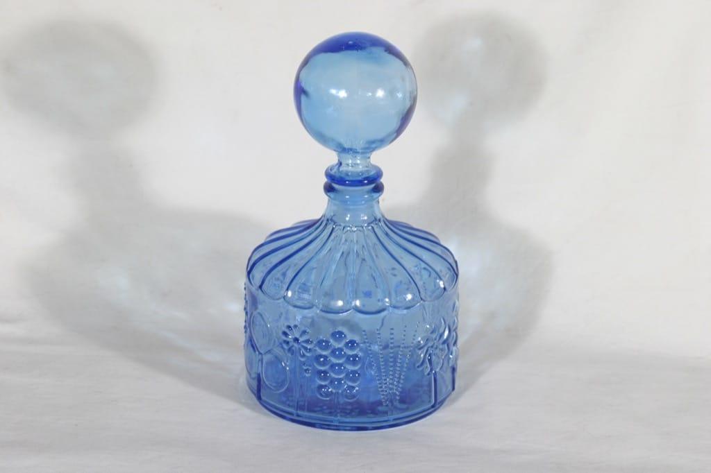 Nuutajärvi Flora koristepullo, sininen, suunnittelija Oiva Toikka,