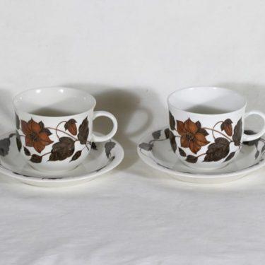 Arabia Tea for two teekupit, 2 kpl, suunnittelija Gunvor Olin-Grönqvist, serikuva