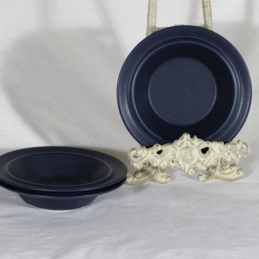 Arabia Blues lautaset, syvä, 3 kpl, suunnittelija Heikki Orvola, syvä