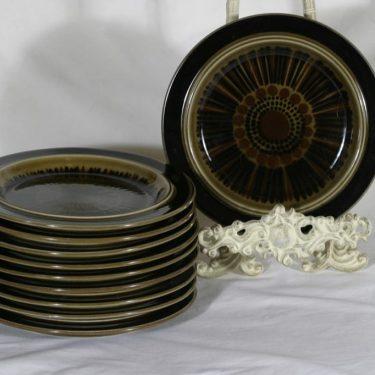 Arabia Kosmos plates, hand-painted, 10 pcs, designer Gunvor Olin-Grönqvist