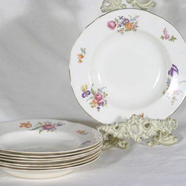 Arabia Kesäkukka lautaset, syvä, 8 kpl, suunnittelija , syvä, siirtokuva
