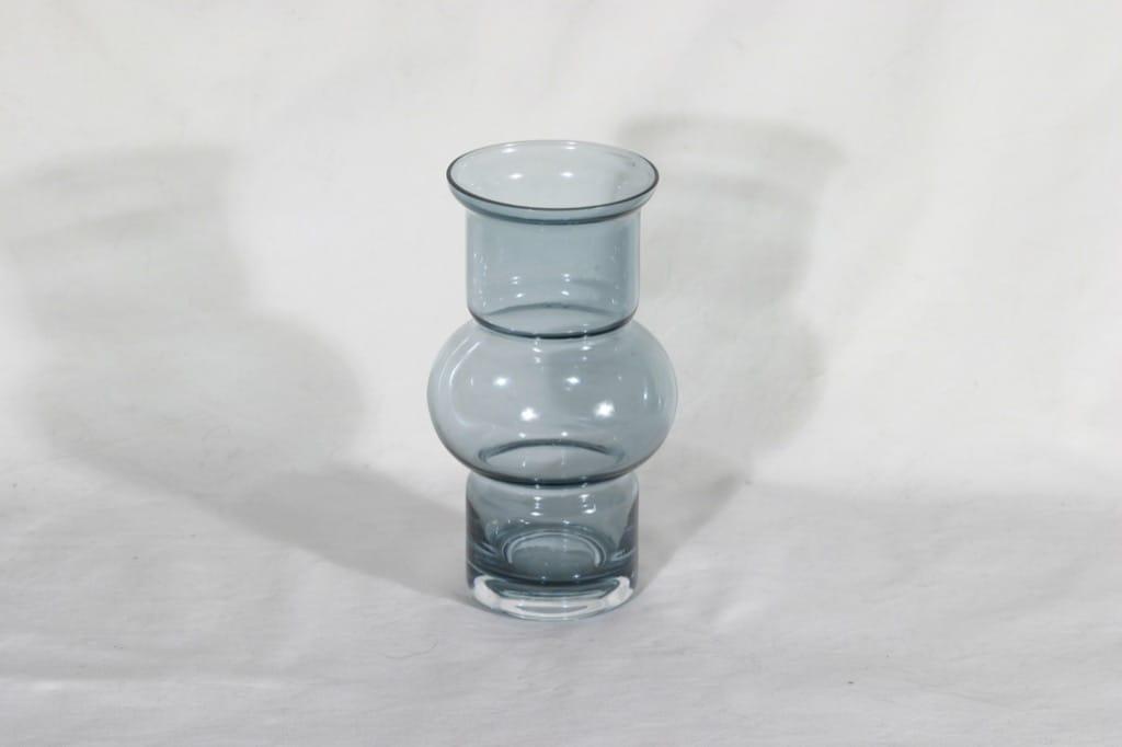 Riihimäen lasi Tuulikki maljakko, siniharmaa, suunnittelija Tamara Aladin,