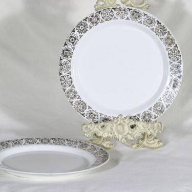 Arabia Kekri lautaset, matala, 2 kpl, suunnittelija Raija Uosikkinen, matala, painokoriste