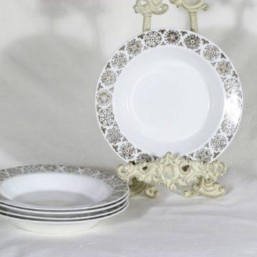 Arabia Kekri lautaset, syvä, 5 kpl, suunnittelija , syvä, painokoriste