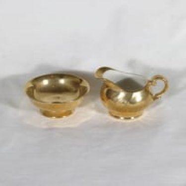Arabia RE 0 sokerikko ja kermakko, kultakoriste, suunnittelija , kultakoriste, kullattu