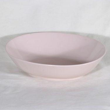 Arabia X 2 kulho, vaaleanpunainen, suunnittelija , soikea, koristelematon
