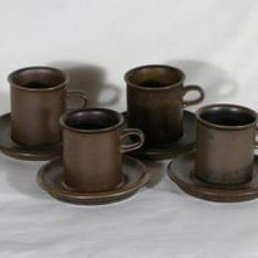 Arabia Ruska kahvikupit, 31 cl, 4 kpl, suunnittelija Ulla Procope, 31 cl