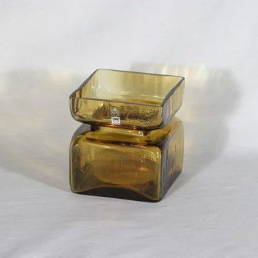 Riihimäen lasi Pala maljakko, amber, suunnittelija Helena Tynell,