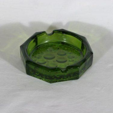 Riihimäen lasi Stella Polaris tuhka-astia, vihreä, suunnittelija Nanny Still,