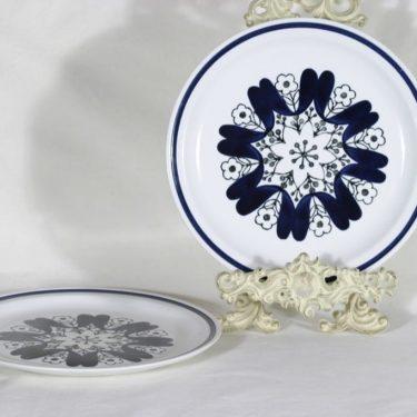 Arabia B lautaset, kukkakuvio, 2 kpl, suunnittelija , kukkakuvio, käsinmaalattu