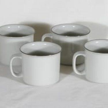 Arabia Fennica teemukit, 45 cl, 4 kpl, suunnittelija Richard Lindt, 45 cl, viivakoriste