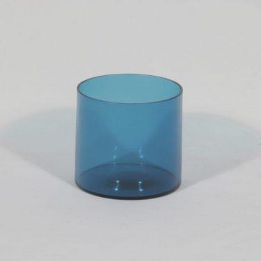 Riihimäen lasi Pomona purnukka, sininen, suunnittelija Helena Tynell,