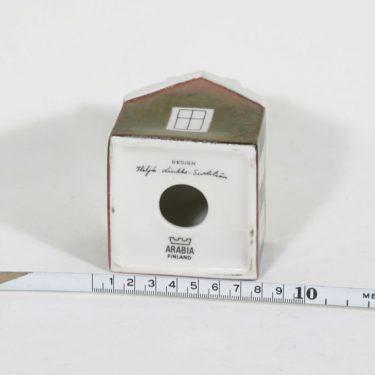 Arabia Talo kynttilänjalka, käsinmaalattu, suunnittelija Heljä Liukko-Sundström, käsinmaalattu, signeerattu kuva 2