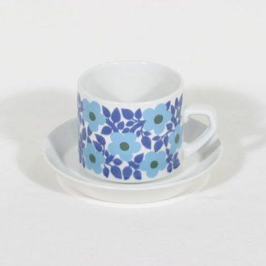 Arabia Ahmet kahvikuppi, suunnittelija Raija Uosikkinen, retro, serikuva