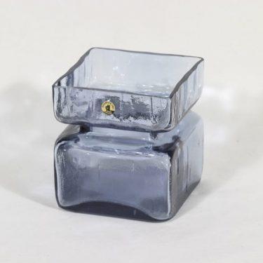 Riihimäen lasi Pala maljakko, siniharmaa, suunnittelija Helena Tynell,
